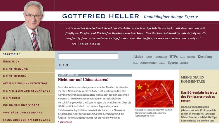 Webseite von Gottfried Heller