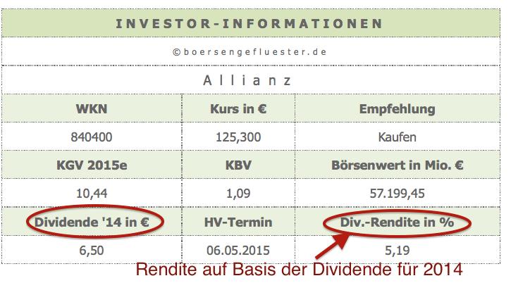 wann wird dividende ausgezahlt